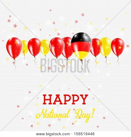 Germany Independence Day Sparkling Patriotic Poster. Happy Independence Day Card With Germany Flags,