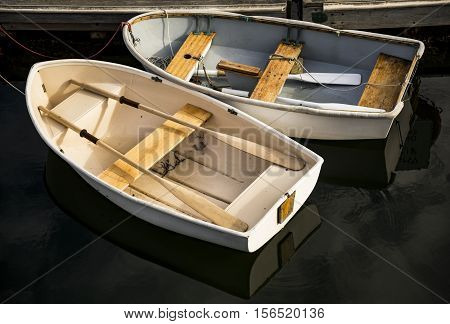boats on the lake in Maine USA
