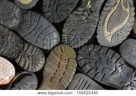 soled shoes equipment old background abstract structure
