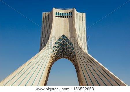 Azadi Tower in Tehran city in Iran