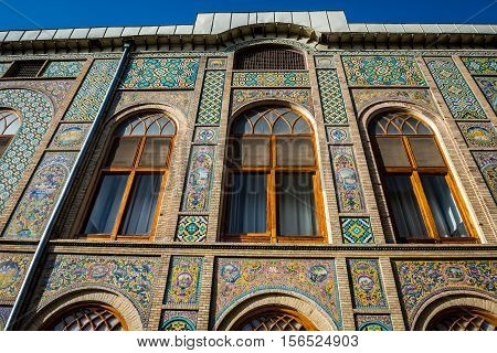 Pond House building part of Golestan Palace in Tehran capital of Iran