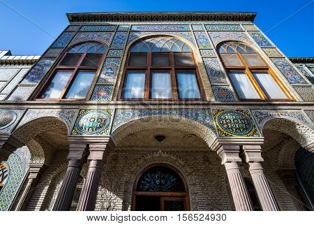 Salam Hall building part of Golestan Palace in Tehran capital of Iran