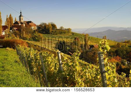 autumn in Kitzeck in South Styria, Styria, Austria