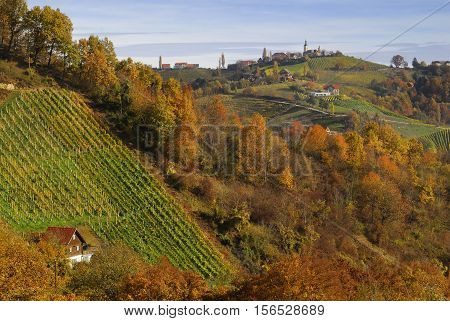 autumn in Kitzeck in South Styria, Styria Austria