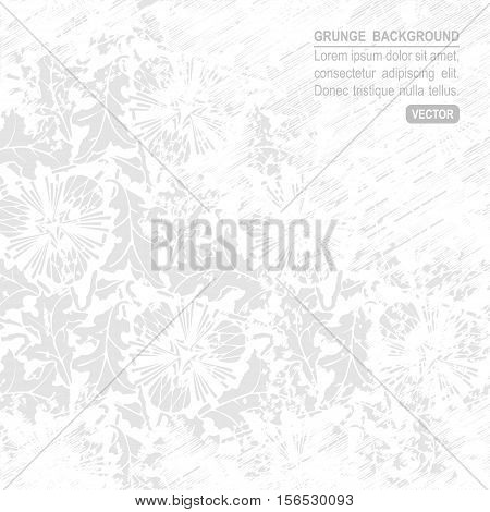 White grunge abstract background. Vector gray worn texture