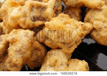 Chinese Cuisine. Chinese Food. Fried Dry Pork Ribs