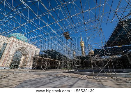 Construction site of Mausoleum of Ruhollah Khomeini in Tehran capital of Iran