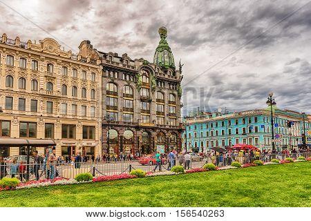 People Walking On Nevsky Prospect, St. Petersburg, Russia