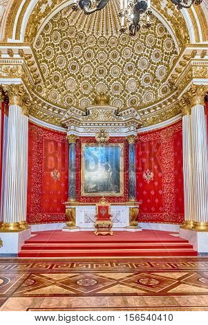 Small Throne Hall, Hermitage Museum, St. Petersburg, Russia