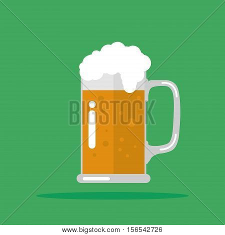 Toasting glasses of beer. Vector Illustration EPS