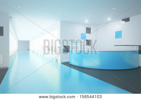 Blue Office Lobby