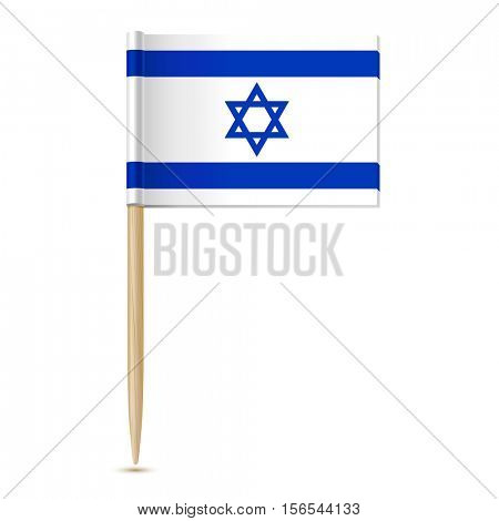 Flag of Israel. Flag toothpick 10eps