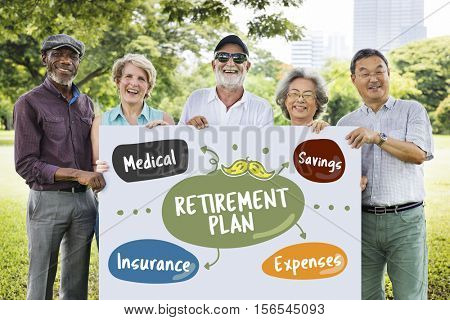 Senior Investment Pension Retirement Plan Savings Concept