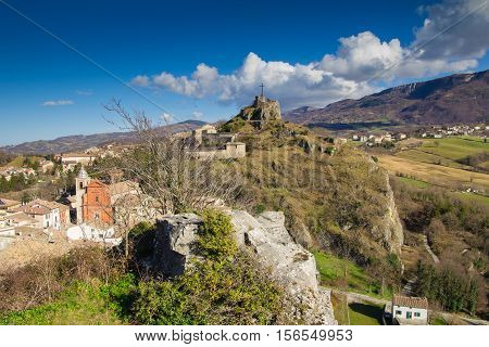 Pennabilli, Montefeltro (Urbino, Marches, Italy), view of the old town