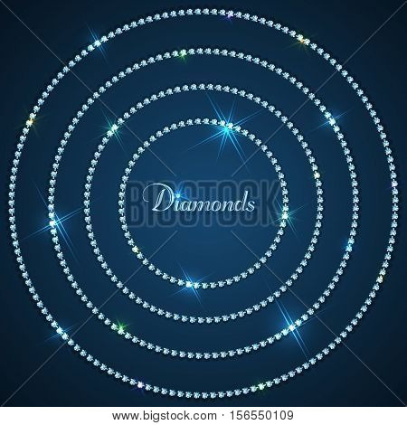 Diamond sparkling beads jewelry background - eps10
