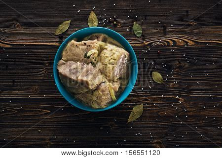 Marinating Meat With Spices And Onion