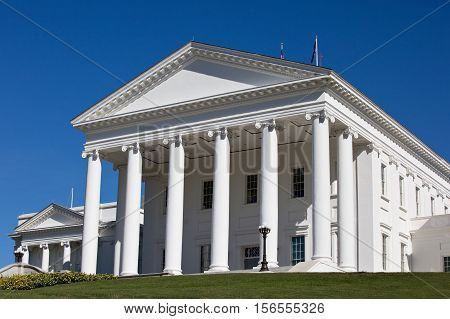 Virginia Capitol State House building is located in Richmond VA USA.