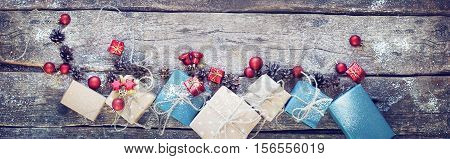 Holiday Box Linen Cord Red Toy Cone Top Veiw