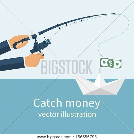 Catch Money Concept