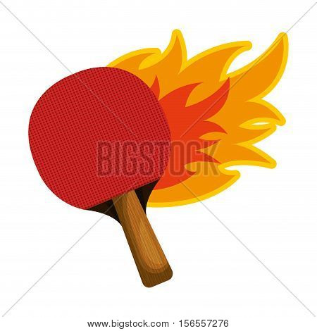 ping pong rackets sport icon vector illustration design