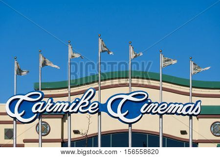 Carmike Cinemas Exterior Sign And Logo
