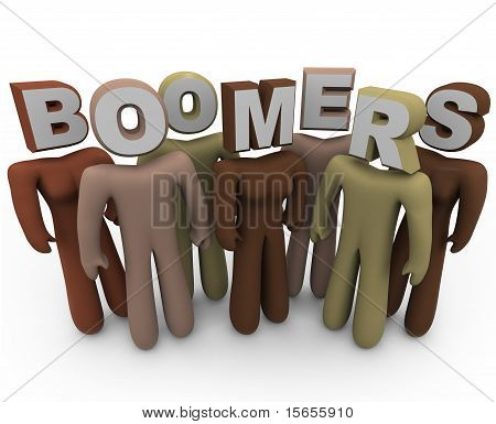Baby-boomers personas de distintas razas y edad avanzada