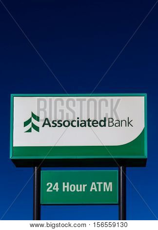 Associated Bank Exterior Sign And Logo