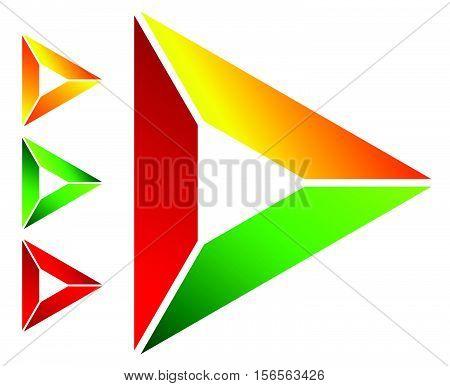 Play Button / Generic Arrow, Pointer, Cursor Icon Or Logo