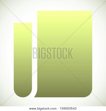 Blank, Folded Paper Icon. Abstract Notepaper, Notepad Symbol.