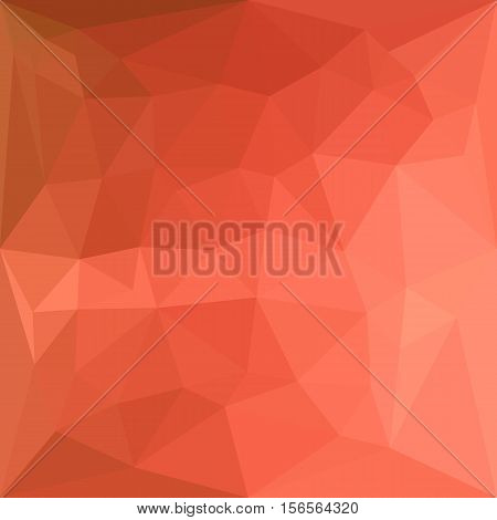 Low polygon style illustration of a light salmon abstract geometric background.