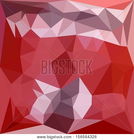 Low polygon style illustration of a pale violet red abstract geometric background.