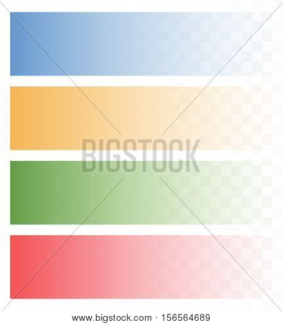 Set Of Fading Banner Shapes, Backgrounds With Transparency