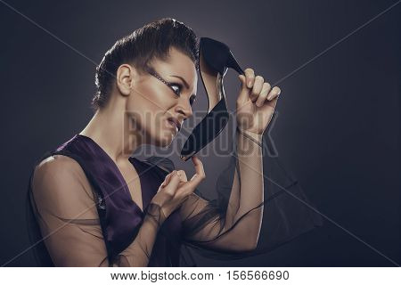 Woman Disgusted By Shoe Smell