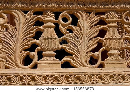 Element decorate of balcony in Mandir Palace Jaisalmer Rajasthan India