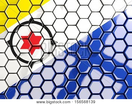 Flag Of Bonaire, Hexagon Mosaic Background