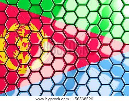 Flag Of Eritrea, Hexagon Mosaic Background