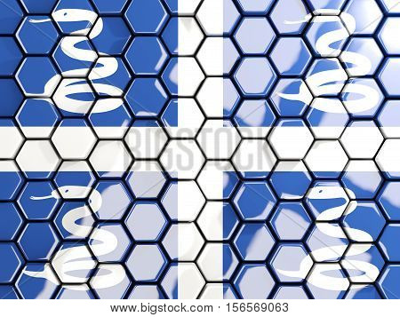 Flag Of Martinique, Hexagon Mosaic Background