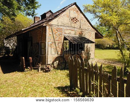 Old Smoke House in the Mississippi Countryside