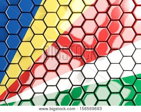 Flag Of Seychelles, Hexagon Mosaic Background