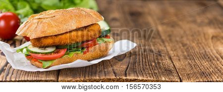 Chicken Schnitzel On A Bun