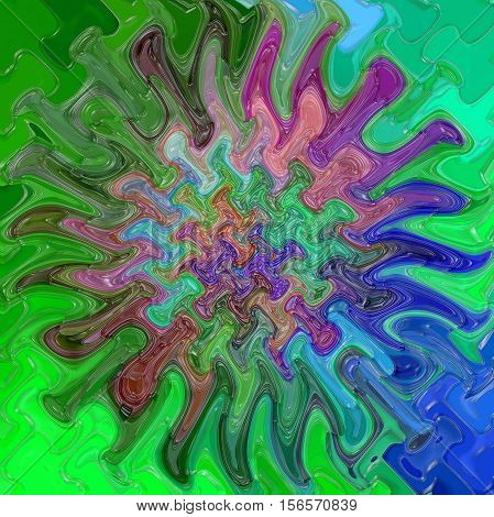 Abstract coloring background of the abstract gradient with visual cubism,mosaic,poolar coordinates,wave and pinch effects,good for your project design