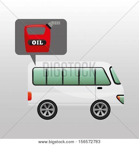 bus white canister oil vector illustration eps 10