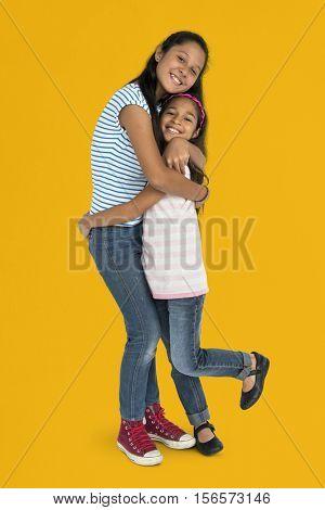 Sister Children Enjoyment Kid Support Concept