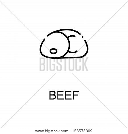 Beef flat icon. Single high quality outline symbol of meat food for web design or mobile app. Thin line signs of beef for design logo, visit card, etc. Outline pictogram of beef