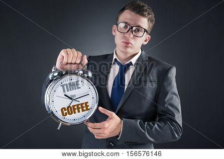 Businessman in coffee break concept