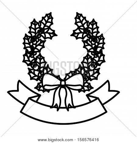 Crown with bowtie icon. Christmas season decoration and celebration theme. Isolated design. Vector illustration