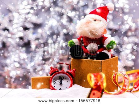 Merry Christmas and Happy New Year countdown concept