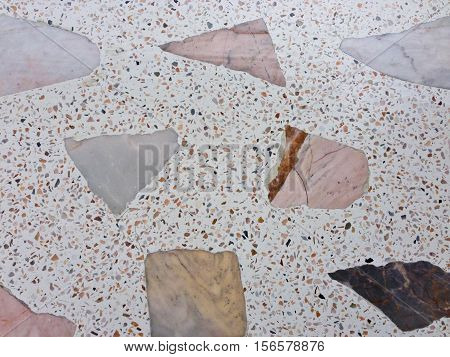 Marble patterned texture Terrazzo Floor, polished stone pattern background