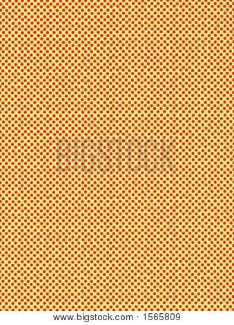 Polka Dots Background Yellow And Red Dots