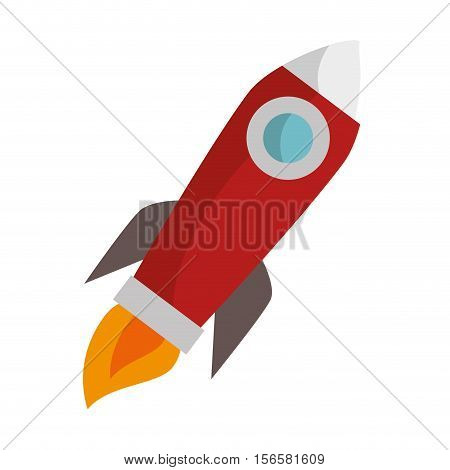 rocket launcher start up vector illustration design